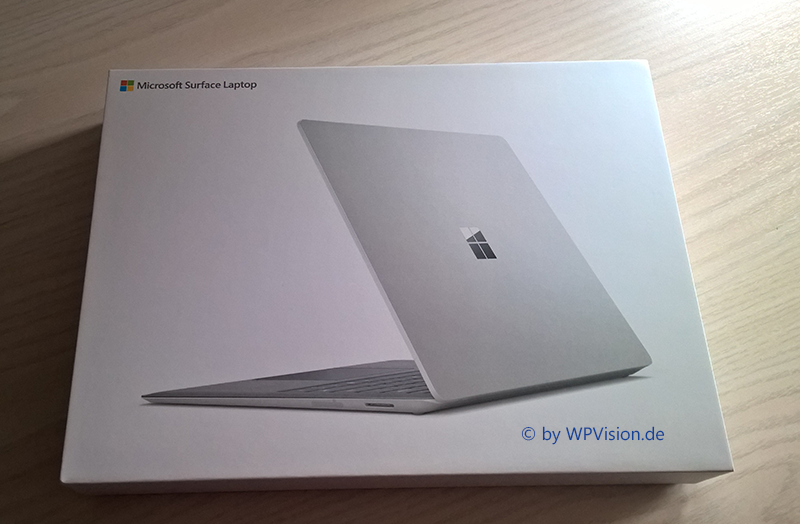 Surface Laptop Verpackung